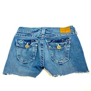 True Religion Cut Off Denim Shorts